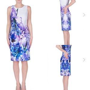 Joseph Ribkoff floral sheath dress sz 10